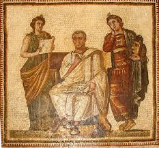 REAL PAINTING OF THE LAST WORLD EMPEROR JULIUS AUGUSTUS CAESAR